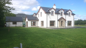 Front elevation new build construction, private house in Rathcormack, County Sligo